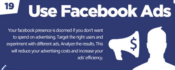 Facebook tips: Use Facebook ads