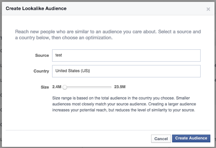 How to create lookalike audiences on Facebook.