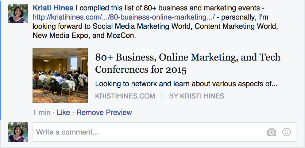 using group search to help with Facebook promotions