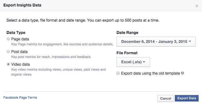 How to download Facebook video metrics