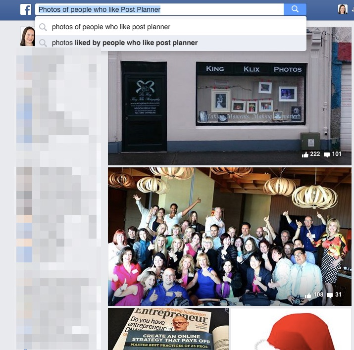 How to use Facebook search for business
