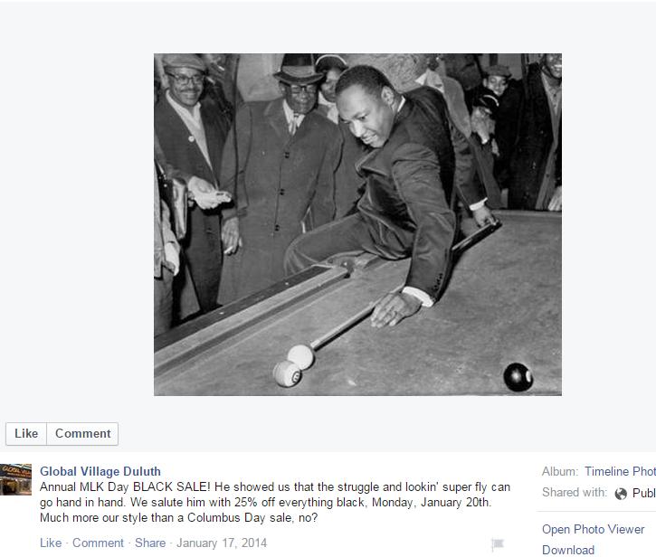 Facebook etuquette - MLK