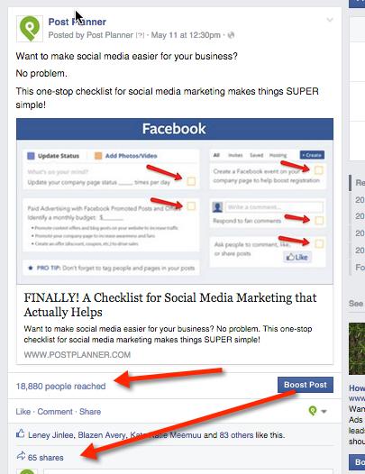 social media checklist graphic