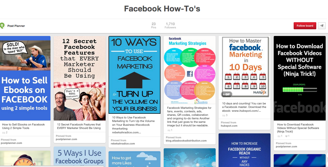 Facebook how-to's graphic