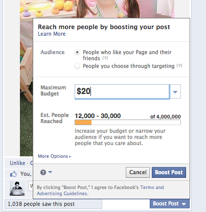 31a12c7099439 I then deviate a bit from Facebook's settings on my ads. I go into my  Facebook ad manager, open the campaign I just created for the post, and  delete the ...