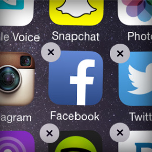 delete facebook mobile app