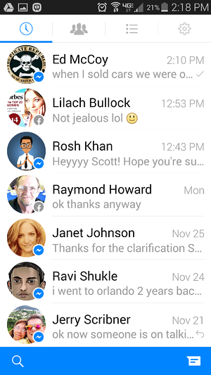 how to find deleted messages on facebook app