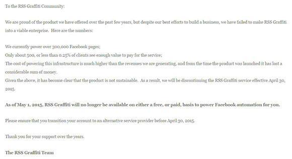 RSS Graffiti is shutting down - announcement