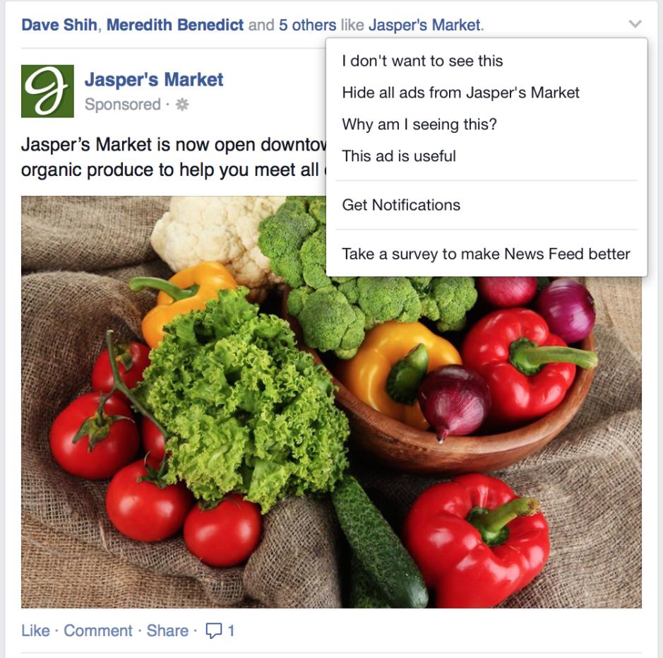 hiding facebook ads