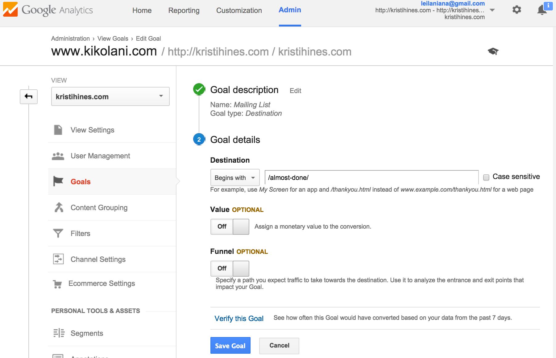 Using Google Analytics with Facebook