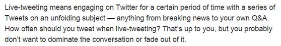 Twitter live tweets