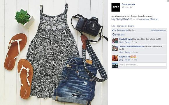 Visual Content Marketing: Aeropostale