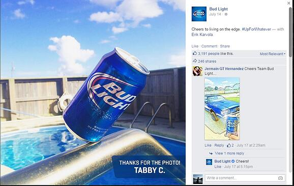 Visual Content Marketing: Bud Light