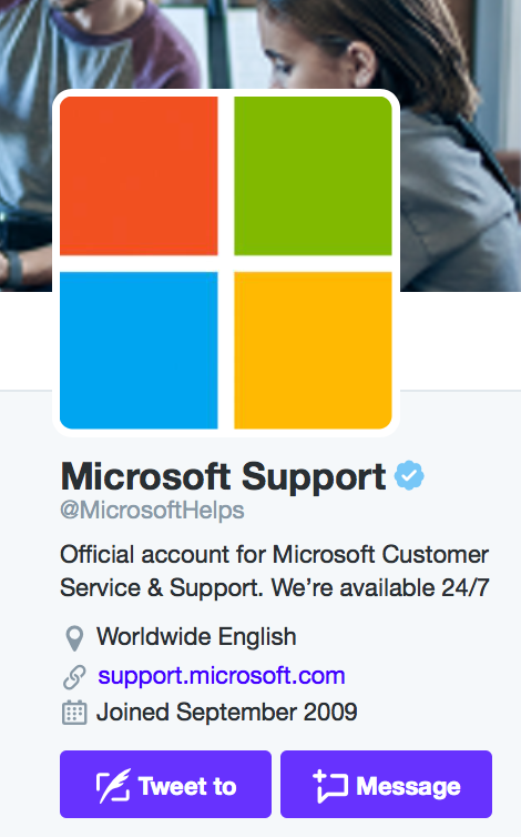 Customer Service on Twitter- microsoft support.png