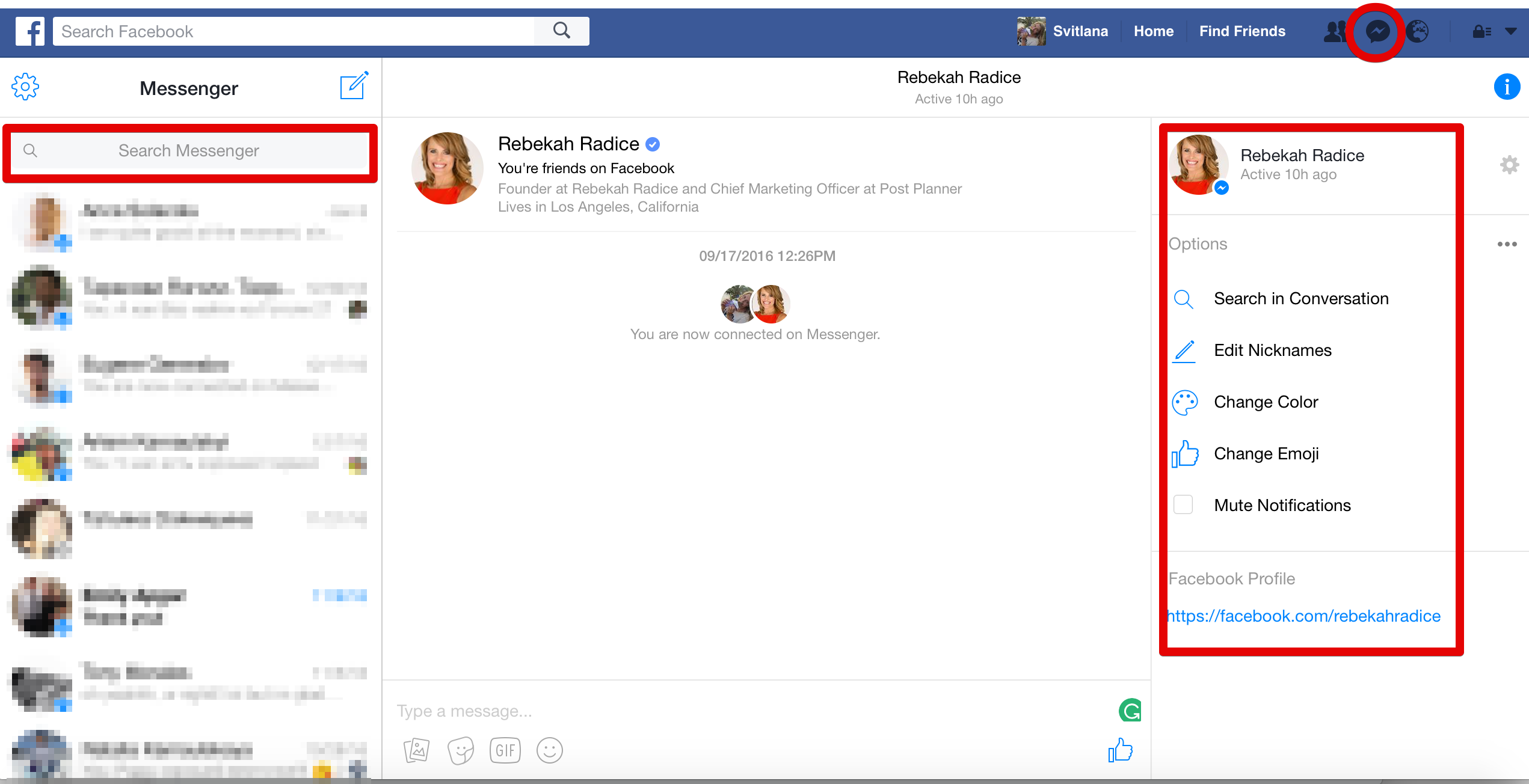 how to delete recent searches on messenger facebook