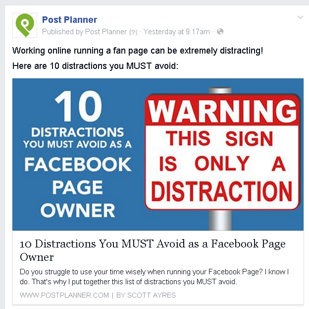 How to format a Facebook video post