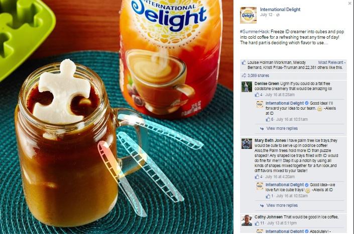 Visual Content Marketing: International Delight