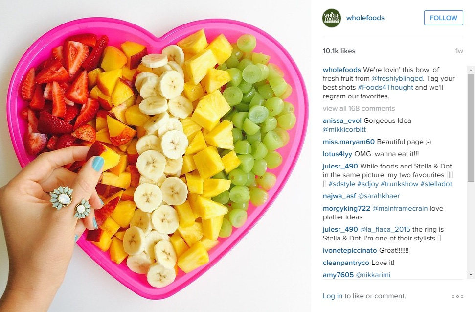 Visual Content Marketing: Whole Foods