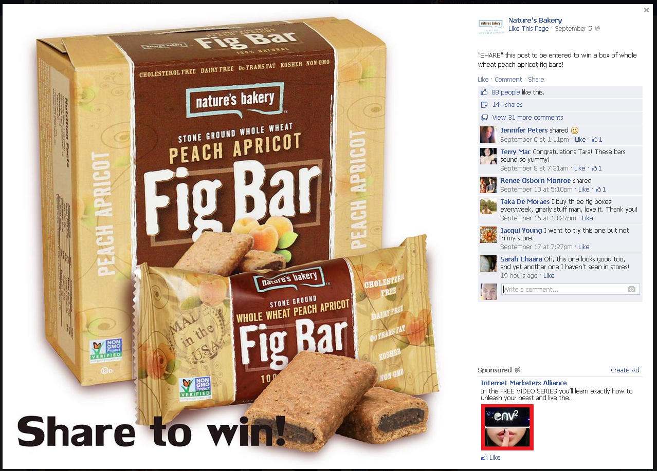 share to win facebook contest