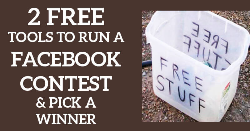 how to pick a winner for instagram giveaway 2 free tools to run a facebook contest pick a winner 4978