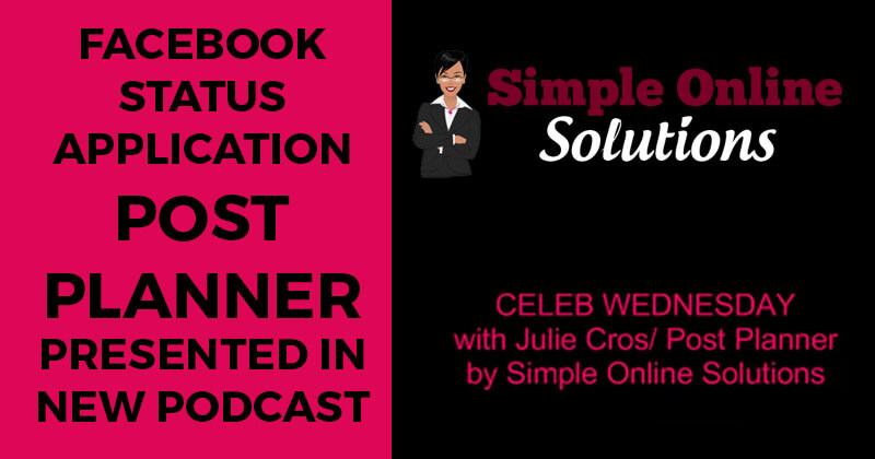 Facebook status application Post Planner presented in new podcast