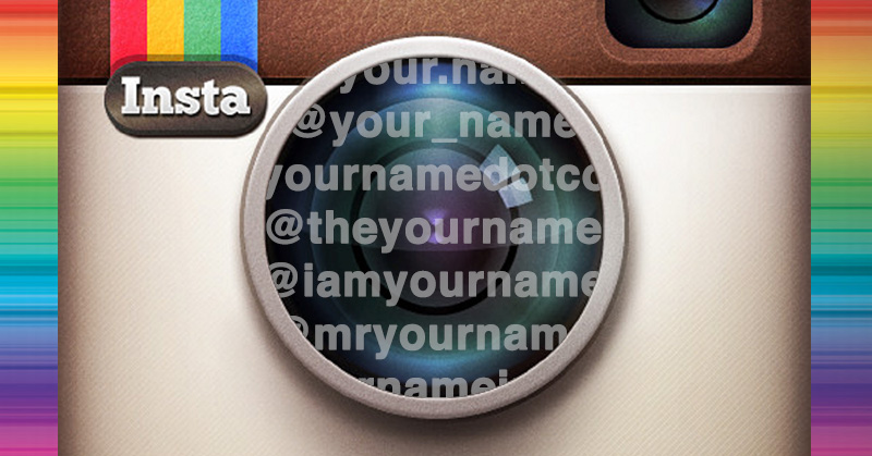 How to Find Sexy Instagram Names (when Yours is Already Taken)