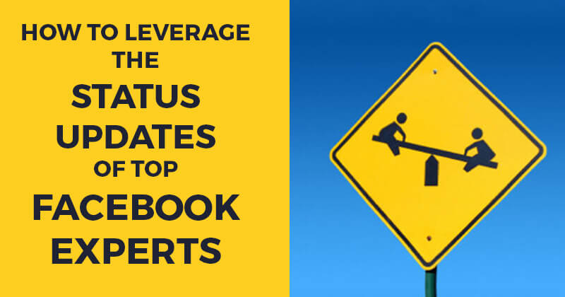 How to Leverage the Status Updates of Top Facebook Experts