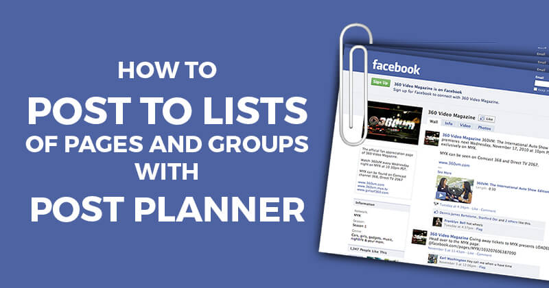 How to post to Lists of Pages and Groups with Post Planner
