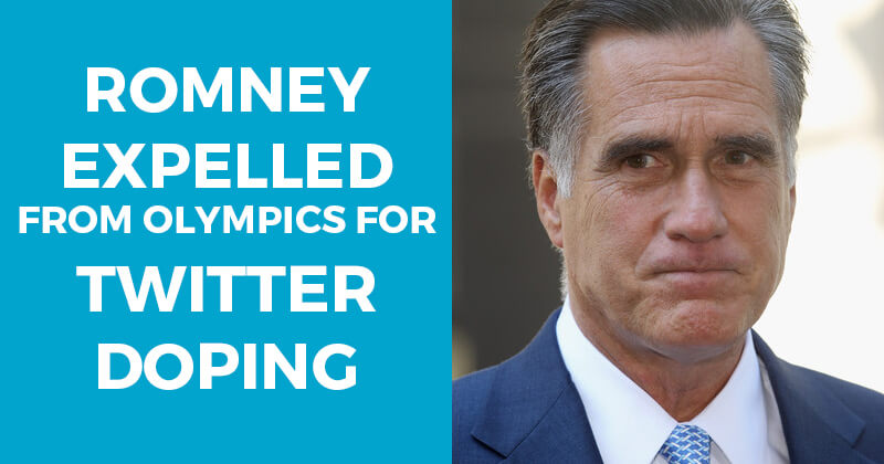 Romney Expelled From Olympics for Twitter Doping
