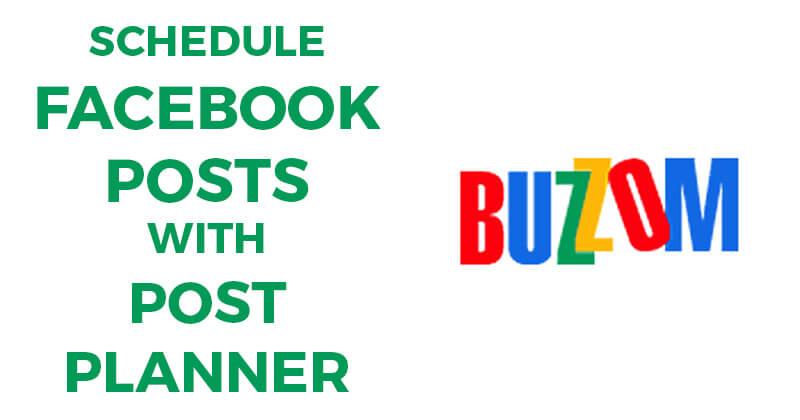 Schedule Facebook posts with Post Planner