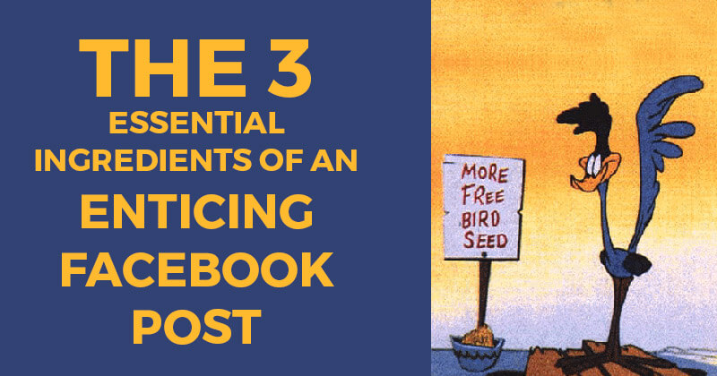 The 3 Essential Ingredients of an Enticing Facebook Post