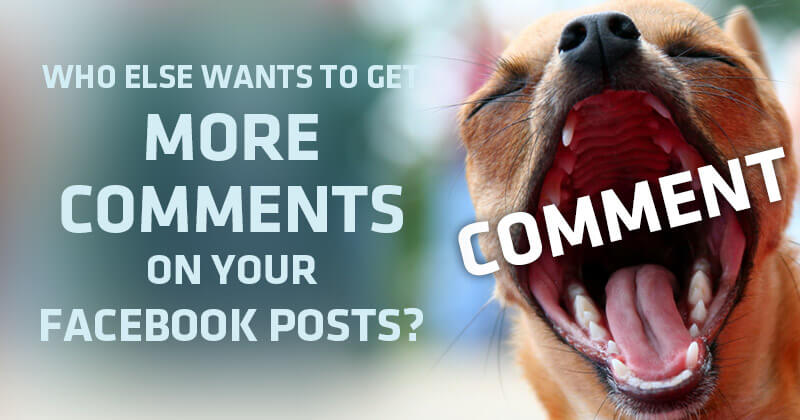 Who Else Wants to Get More Comments on Your Facebook Posts?