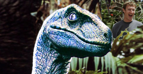 Zuckerberg's Blue Dinosaur Just Asked Me About My Privacy Settings on Facebook