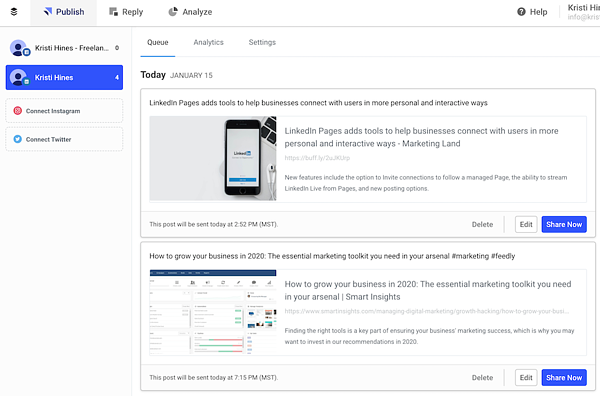linkedin-automation-tools-buffer-publish