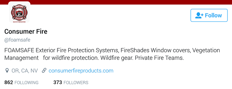 twitter bio for business-foamsafe.png