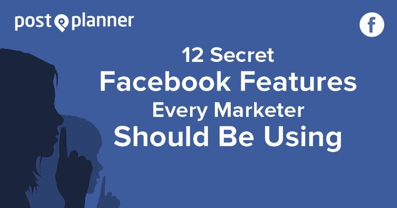 Secret Facebook Features (graphic)