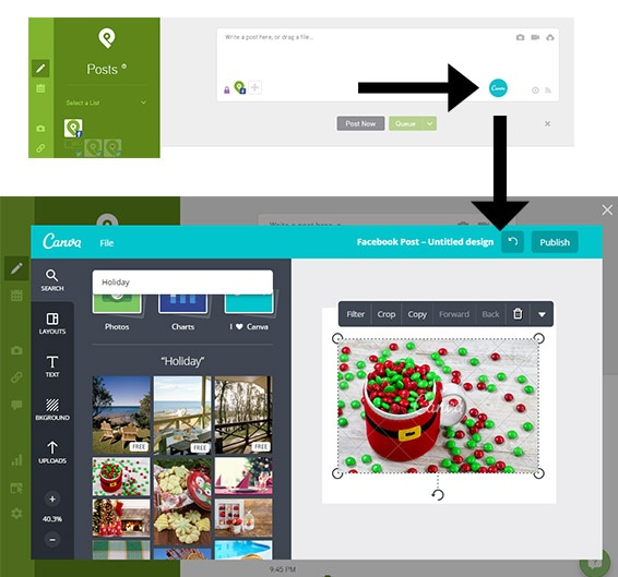 Using Canva in Post Planner