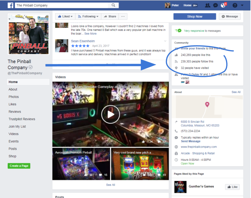 Screenshot of The Pinball Company's Facebook Page.png