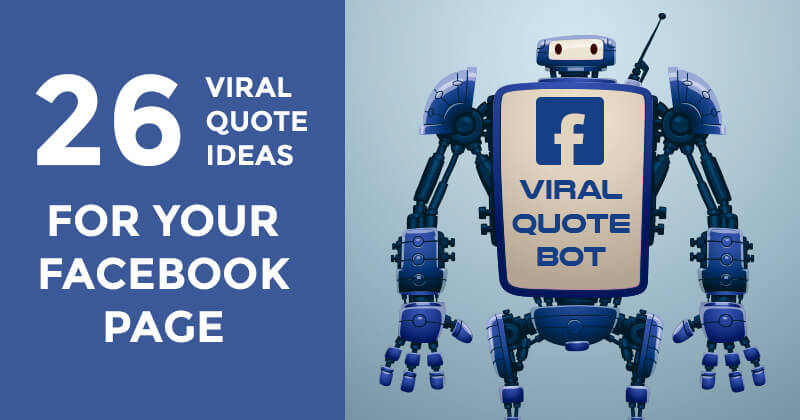 Viral Quote Ideas for Your Facebook Page (graphic)