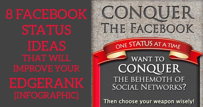 8 Facebook Status Ideas that will Improve your EdgeRank [Infographic]