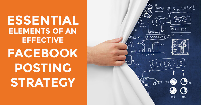 Facebook posting strategy (graphic)