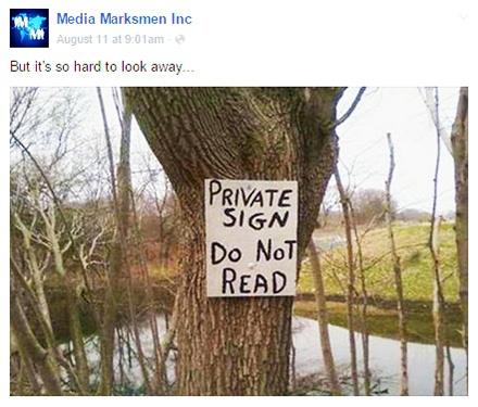 Facebook posting strategy: MediaMarksmen example