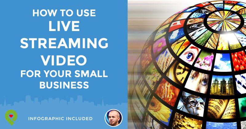 How to use live streaming video in business (graphic)
