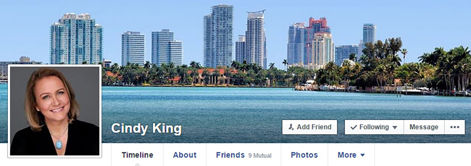 Cindy King Facebook Page