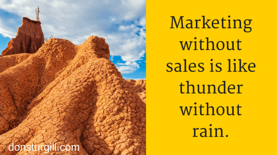 Why Visual Marketing - Thunder without Rain quote