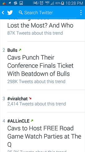 Trending on Twitter - #ViralChat